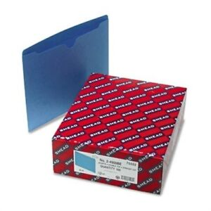 File Jackets Reinforced Double ply Tab Letter 11 Point Stock Blue 100 box