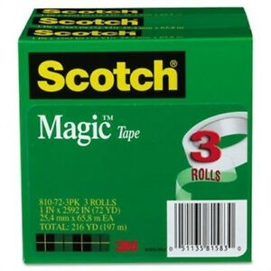 Magic Tape 1 X 2592 3 Core 3 pack X 2