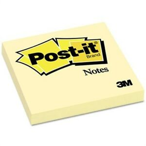 Original Notes 3 X 3 Canary Yellow 12 100 sheet Pads pack 2 Pack