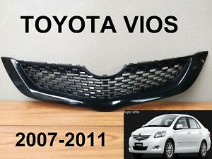 Toyota Vios Yaris Style Belta Front Grille Grill Parts Sedan Color Black 2007 11