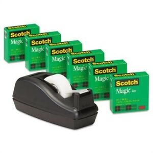 Scotch Magic Tape 1 Core Black 6 pack X 2