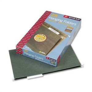 Hanging Folders 1 3 Tab 11 Point Stock Legal Green 25 box 2 Pack
