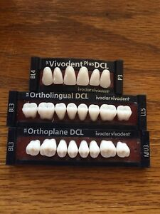 Ivoclar Vivadent Ortholingual Dcl 3 Cards Of Bl3 Teeth For Dental Lab Materials