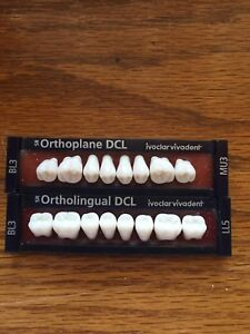 Ivoclar Vivadent Ortholingual Dcl 2 Cards Of Bl3 Teeth For Dental Lab Materials