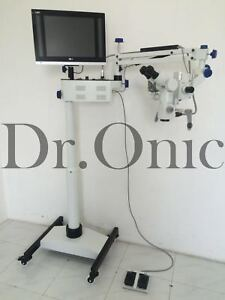 Dental Microscope 5 Step floor Type 0 180 Inclinable led Hd Camera Full Set