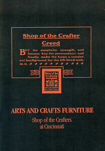Shop Of The Crafters Arts Crafts Furniture Catalog Reprint