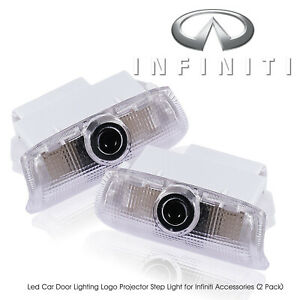 Insassy Infiniti Led Door Light Logo Projector Welcome Courtesy Step Lighting X2