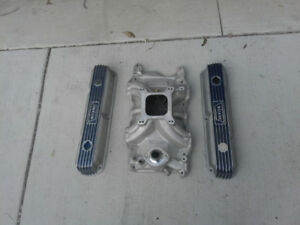 Weiand Vintage Valve Covers And Intake Small Block Mopar 318 340 360 Dodge Dart