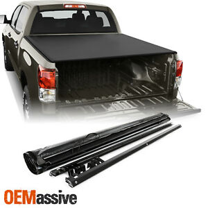 For 2007 2018 Toyota Tundra Crew Max Cab 5 5 Feet 66 Soft Roll Up Tonneau Cover