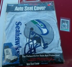 Vintage 1994 New Car Seat Cover Team Nfl Seattle Seahawks Bucket Seat