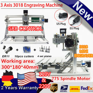 Us eu 3 Axis Diy Cnc 3018 Wood Carving Pcb Milling Machine Router Engraver Grbl