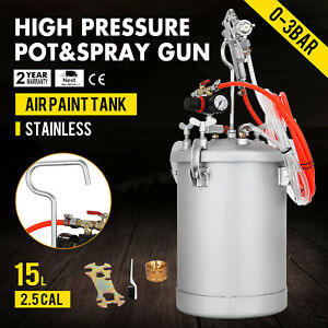 4 Gallon 2 5mm High Pressure Pot Paint Sprayer Industrial House Painting Lacquer