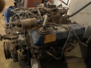 76 Ford 460 Engine Complete4bbl Carb To Oil Pan very Strong Ran Perfect Original
