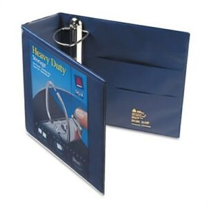Heavy duty View Binder With One Touch Ezd Rings 4 Capacity Navy Blue 2 Pack