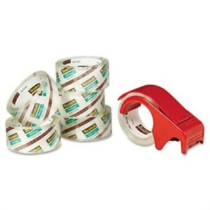 Moving Storage Tape 1 88 X 54 6yds 3 Core Clear 6 pack