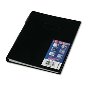 Notepro Notebook 8 1 2 X 11 150 Ruled Sheets White Paper Black Cover X2