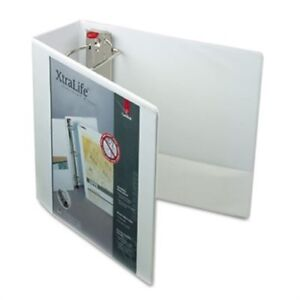 Xtralife Clearvue Non stick Locking Slant d Ring Binder 4 White 3 Pack