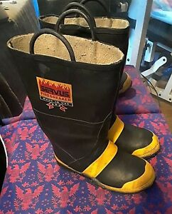 Servus Firefighter Safety Fire Boots Mens Size 10 Wide