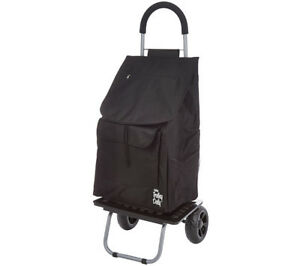 Trolley Dolly Black Shopping Grocery Foldable Cart brand New never Opened