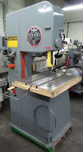 Doall 20 Vertical Metal Cutting Band Saw W 12 Work Height Contour Feed