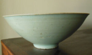 Antique Chinese Light Green Song Celadon Bowl W Clowds Insicions