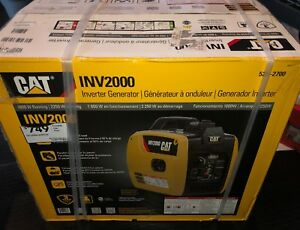 Cat Inv2000 1800 Watt Portable Inverter Generator 522 2700 Brand New Sealed