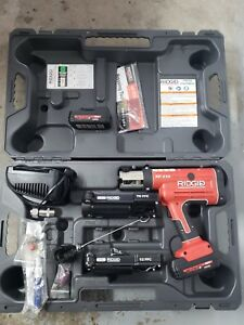 Ridgid Propress Rp 210 W charger 2x Batteries And Case Industrial Plumbing Tool