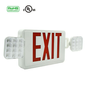 1 2 4 6pack Red All Led Exit Sign Emergency Light Square Head Combo Ul924 Combor