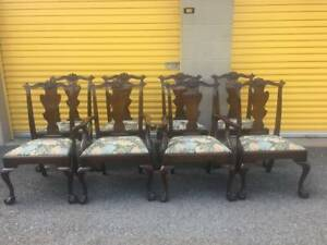 Genuine Mahogany Dining Room Table And Chairs Henkel Harris