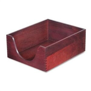 Hardwood Letter Stackable Desk Tray Mahogany