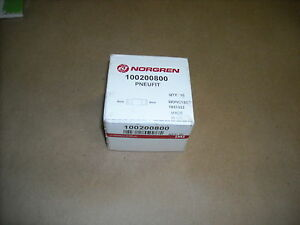 Norgren 10 020 0800 8mm Straight Connector Box Of 10pc New In Box