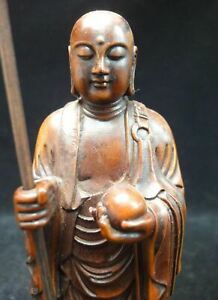 Very Fine Old Chinese Hand Carving Dizangwang Buddha Statue Sculpture