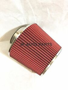4 6 25 H Cold Short Ram Intake High Flow Cone Red Air Filter