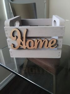 Decorative Wooden Crate Small