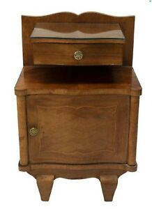 French Art Deco 1930 S Floating Drawer Cabinet Vtg Bedside Nightstand End Table