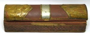 Vintage Decorative Small Pencil Box Indian Brass Fitted Jewelry Box I71 216 Us