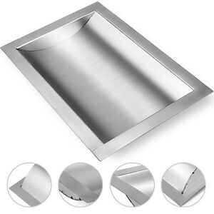 Cash Window Drop in Deal Tray 16 l X 10 w 304 Brushed Finish 1 6 height