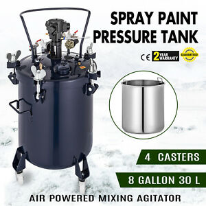8 Gallon 30l Spray Paint Pressure Pot Tank 1 4 Air Inlet Painting Auto Mix