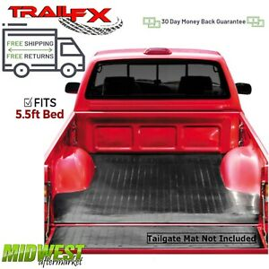 Trailfx Drop In Rubber Truck Bed Mat Fits 2015 2019 Ford F 150 Crew Cab 5 5 Bed