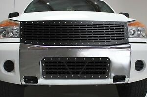 Custom Grille Combo For Nissan Armada 2005 07 Parts Steel Aftermarket Grill Kit