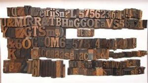 Antique Letterpress Wood Type 184 Pieces
