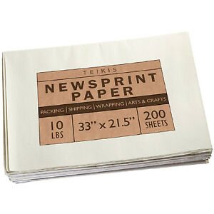 Wrapping Newsprint Paper 200 Sheets Jumbo Roll Packing Shipping Storing Moving