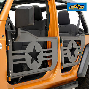 Eag 2018 2019 Jeep Wrangler Jl 4 Door Steel Military Tube Door With Side Mirrors