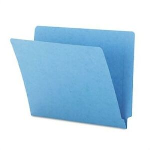 Colored File Folders Straight Cut Reinforced End Tab Letter Blue 100 box X3
