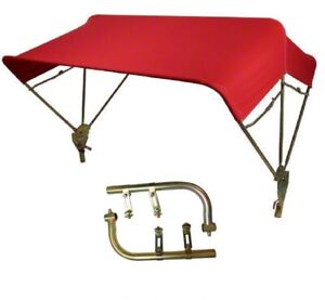 Tractor Umbrella Red Buggy Top 3 Bow 40 Complete W Fender Mounts