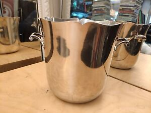 Vintage French Ercuis Champagne Wine Ice Bucket Cooler 30 Grams Silver Plated