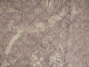 Toile D Alsace Purple Antique French Pelmet Or Valance Textile C1830 Ikat Fabric
