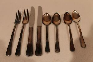 2 Place Settings Of Rogers Rio Oneida 4 Pc Setting Silver Plate Flatware New