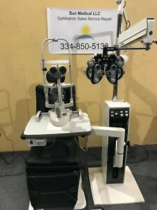 Reliance 920 L Chair Stand Marco G2 Ultra Slit Lamp Reichert Phoropter Lane