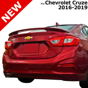 For Chevrolet Cruze 2016 2019 Red Hot Wa130x Painted Abs Rear Trunk Spoiler